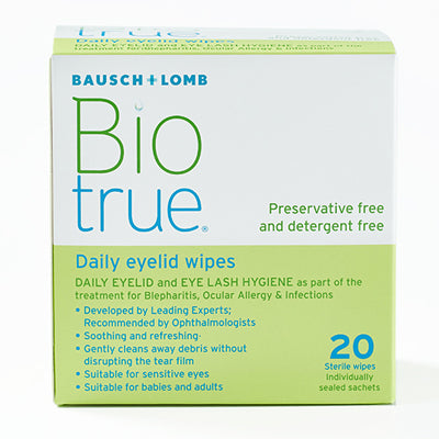 Biotrue Daily Eyelid Wipes