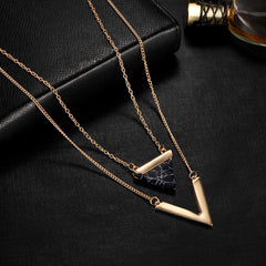 Geometric Stoned Necklace