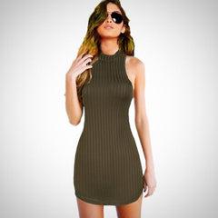 This tank dress is so hot you're going to want to wear it everywhere.. Just don't wear it to church k?