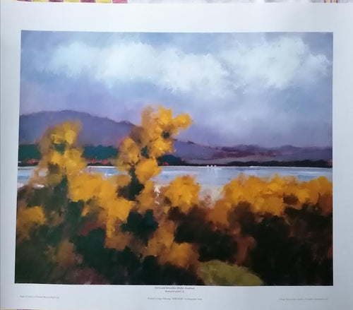 GORSE AND DOWNSHIRE BRIDGE, DUNDRUM    Print 1994  Richard Croft RUA