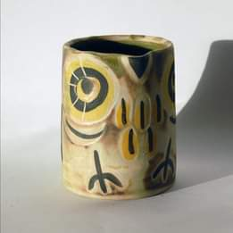 STONEWARE OWL UTENSIL HOLDER