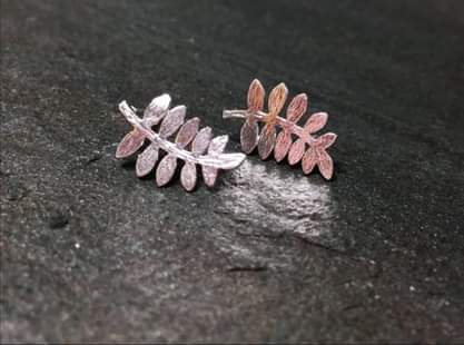 FERN EARRINGS in silver