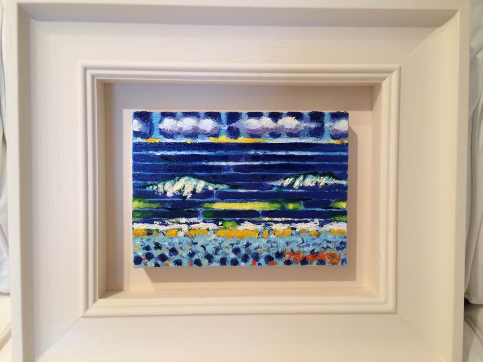 TWO WAVES   Oil on Canvas                                              John Breakey RUA