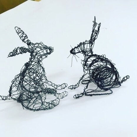 HAIRY HARE WIRE SCULPTURE WORKSHOP  Bullitt Belfast