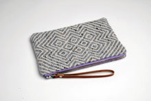 HANDWOVEN POUCH with Mourne heather coloured zip