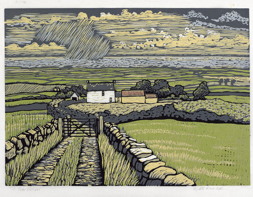 OVER KILKEEL Relief Print    Richard Croft RUA