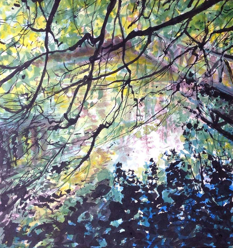 INK & PEN PAINTING WORKSHOP at Tollymore Forest, Mourne Ireland