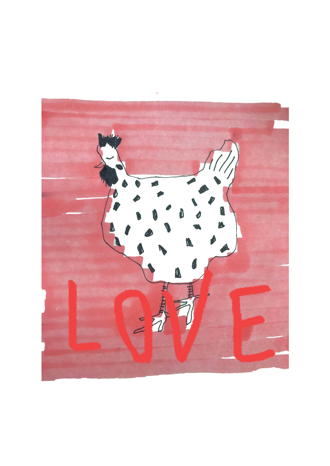 LOVE HEN, IRELAND print