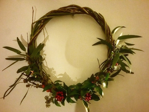 CHRISTMAS WOVEN WREATH WORKSHOP     16/12/18