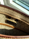 Christian Dior Vintage Brown Monogram Cloth Shoulder Bag