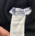 Christian Dior Vintage Black Wool Body