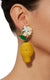 Mercedes Salazar Straw Lemon Clip-On Earrings