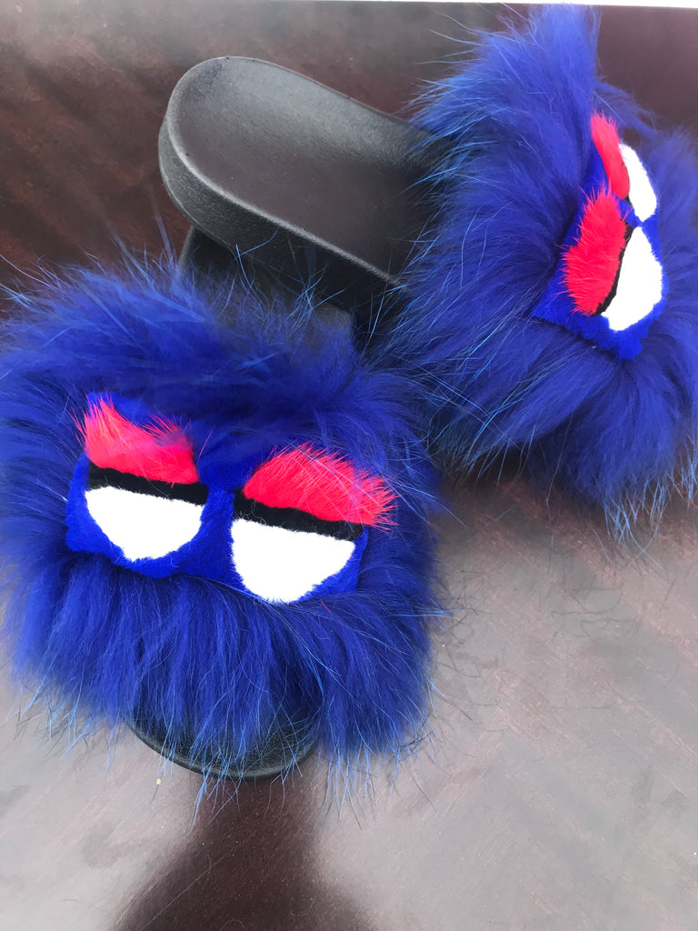 Monster Raccoon Fur Slippers - SHOP SO REAL