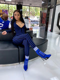 Crystal Sport Heels - Blue - SHOP SO REAL