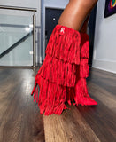 Reverse Cowgirl Fringe Boots - SHOP SO REAL