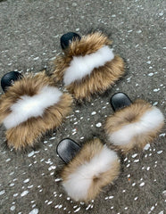 KIDS Cappuccino Raccoon Slippers - SHOP SO REAL