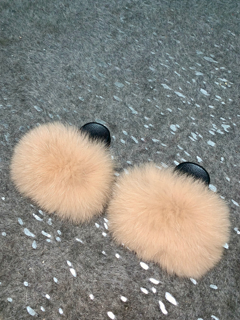 KIDS Wheat Fox Slippers - SHOP SO REAL