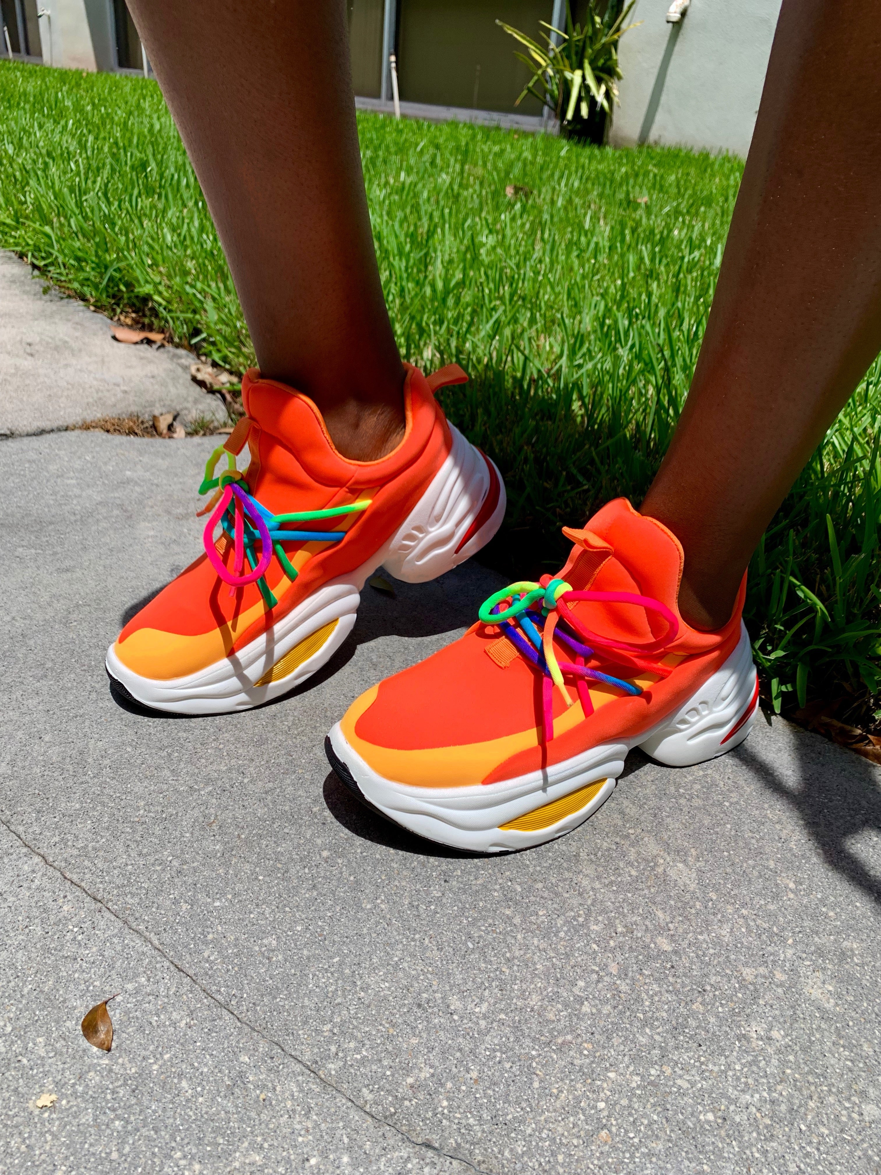 Orange Brust Trainers 🍊 - SHOP SO REAL