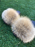 Natural Red Fox Slippers - SHOP SO REAL