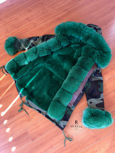 Green Fox Parka - SHOP SO REAL