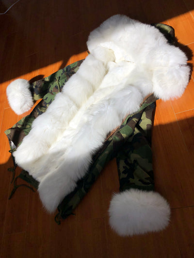 Camo Fox Parka - SHOP SO REAL