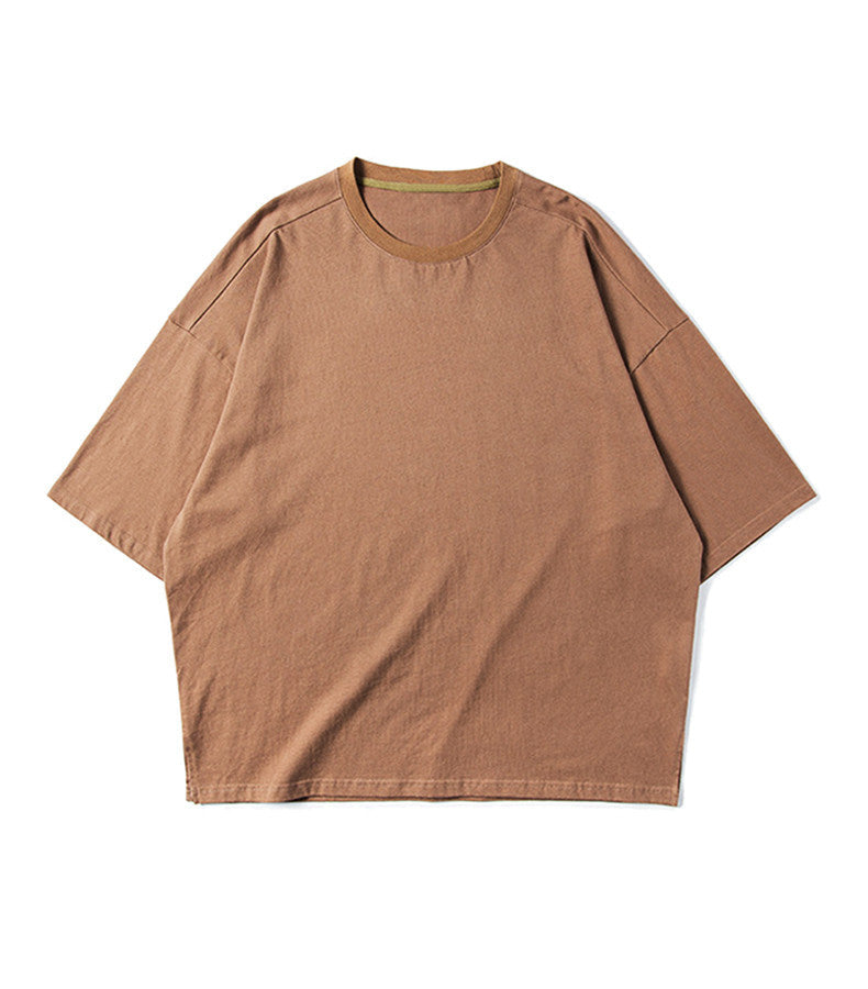 ESSENTIAL BROWN LOOSE TEE