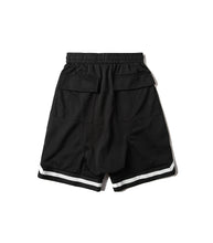 STRIPED BLACK TRACK SHORT