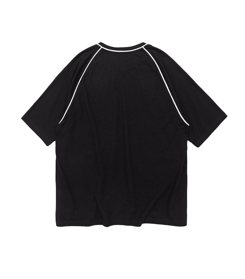 SL. ESSENTIAL BLACK LOOSE TEE