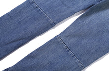 DENIM ORIGINAL BLUE DESTROYED WITH SILVER ZIPPER