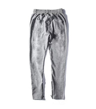 NYLON LIGHT GREY ZIPPER PANTS