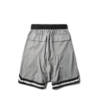 STRIPED SILVER TRACK SHORT