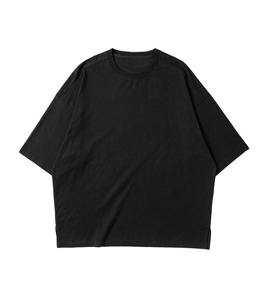 ESSENTIAL BLACK LOOSE TEE