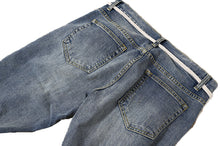 N. DENIM SKY BLUE MULTIPLES DESTROYED WITH ZIPPER