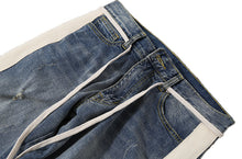 N.Denim Sky Blue Multiples Destroyed&Zipper