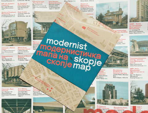 Modernist Skopje Map Brutalism architecture guide