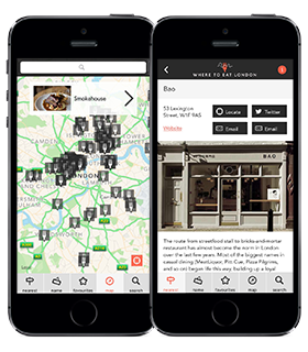 Where to Eat London app