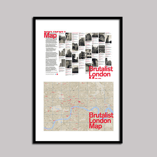 Brutalist London Map - Flat - Limited Edition