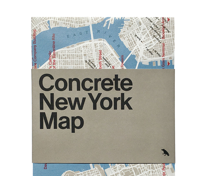 Concrete and Brutalist New York Map