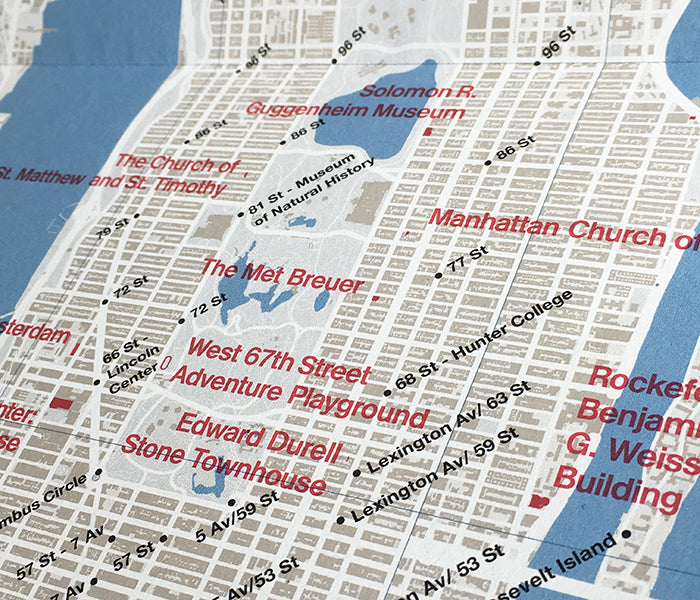 Concrete New York Map Front