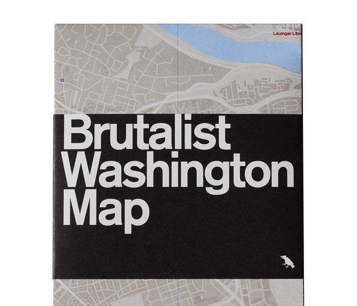 Brutalist Washington Map