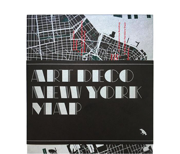 Art Deco New York Map