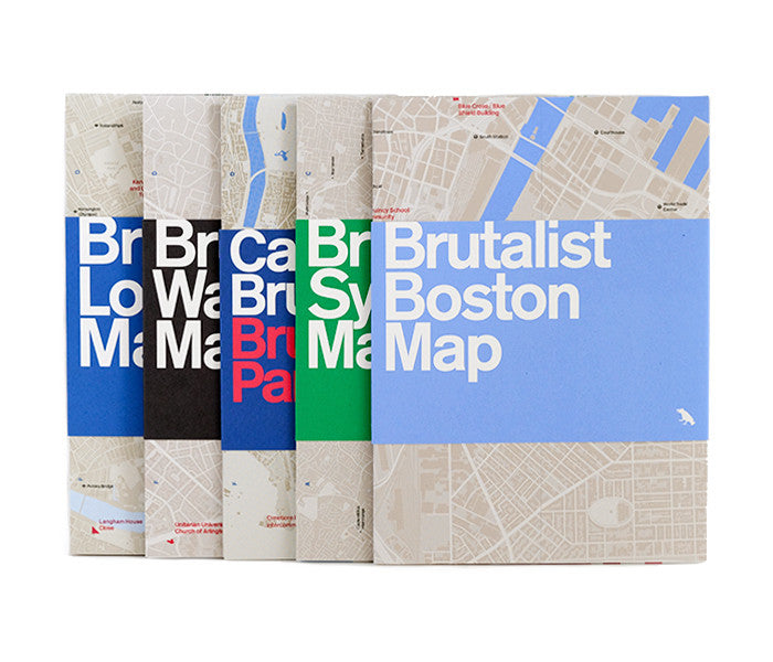 Brutalist Maps Set