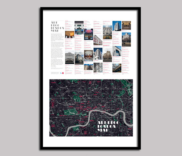 Architecture map - poster edition