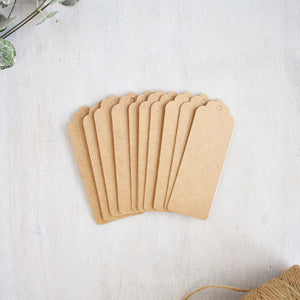 Medium Narrow Brown Kraft Gift Tags