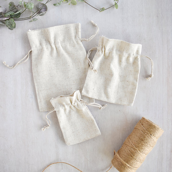 Cotton Linen Gift Bags (3 Sizes)