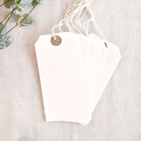 Large White Luggage Tags