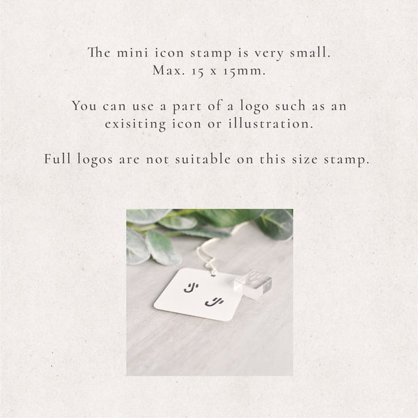Custom Mini Icon Stamp | Loyalty Stamp or Personalised Signature