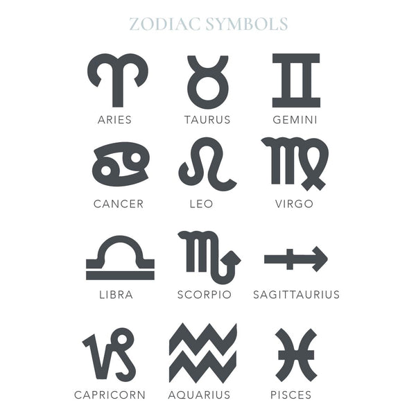 Astrological Zodiac Star Sign Symbol Stamp