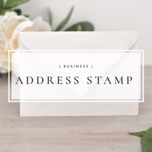 Custom Business Logo and Return Address Stamp