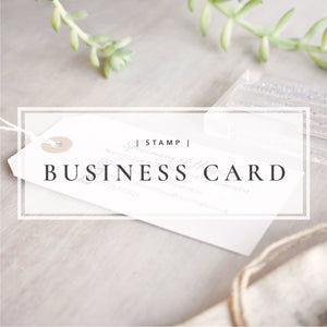 Custom Business Card Stamp | Logo and Social Media Stamp